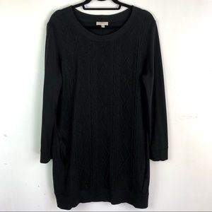 Paul Smith  wool blend cable strength black dress